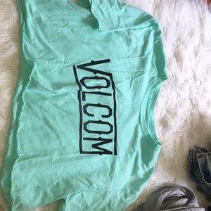 Volcom teal crop top!